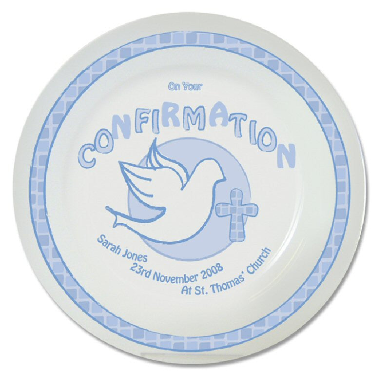 Blue Personalised Confirmation Plate - Harringtons