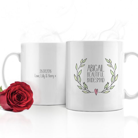 Beautiful Bridesmaid Personalised Wedding Mug - Harringtons