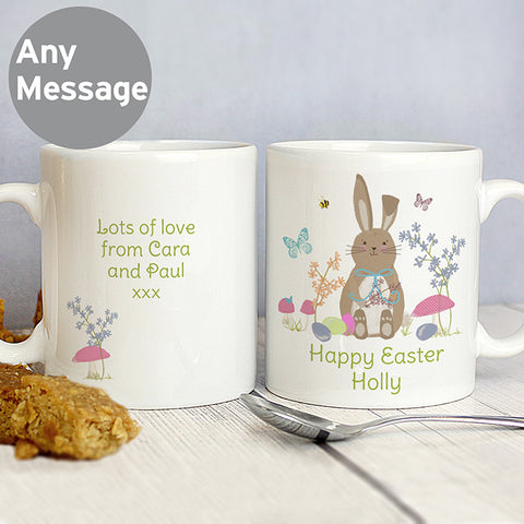 Easter Meadow Personalised Bunny Mug