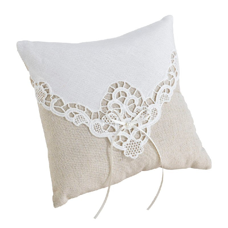 Country Lace Wedding Ring Pillow - Harringtons