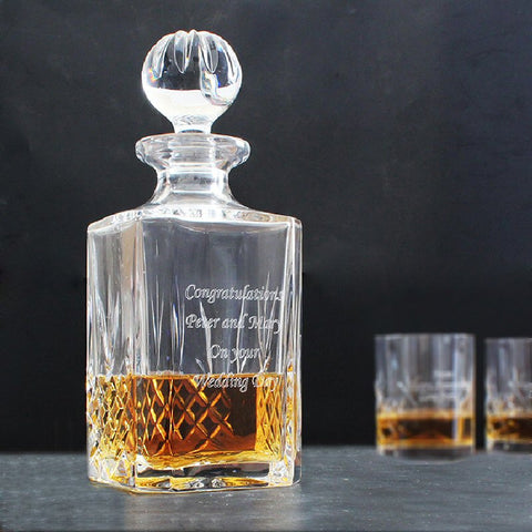 Engraved Anniversary Crystal Decanter - Harringtons