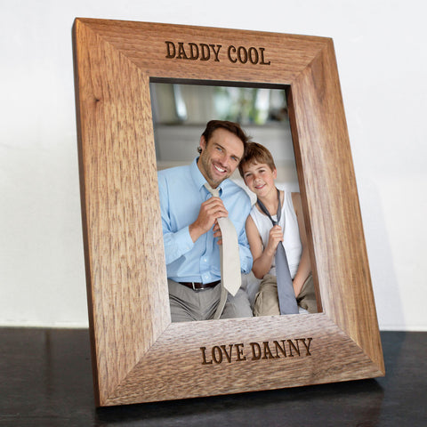Daddy Cool Personalised Oak Photo Frame