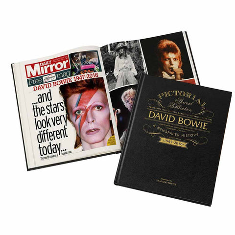 David Bowie Pictorial Edition Personalised Newspaper Book