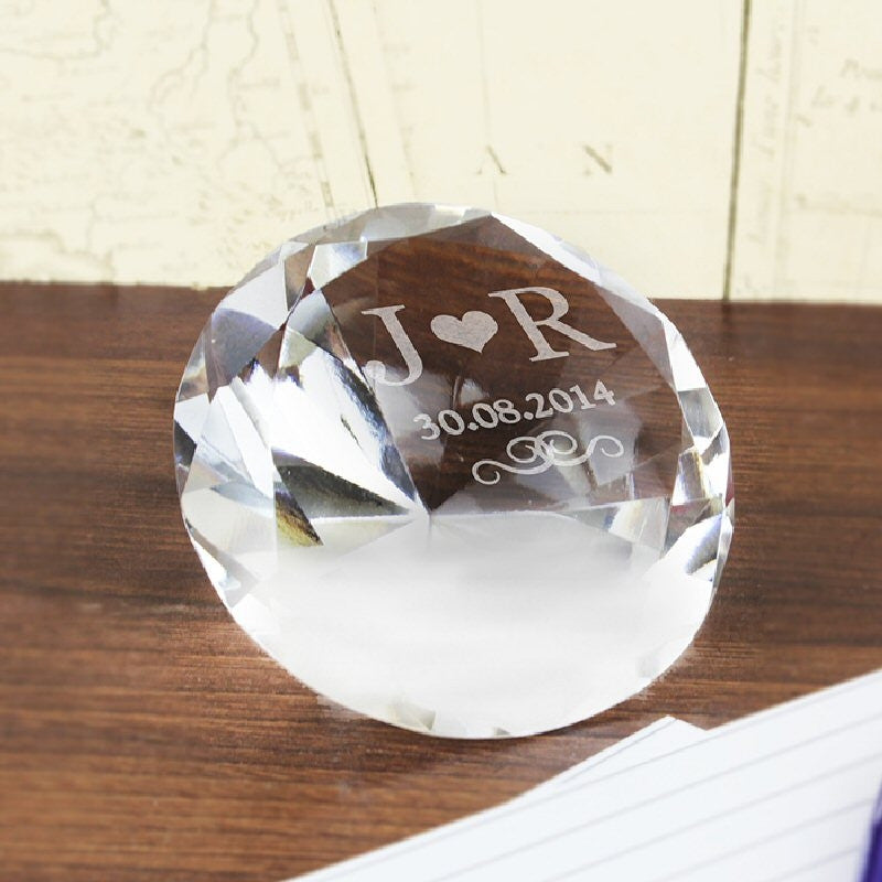 Initials Diamond Paperweight - Harringtons
