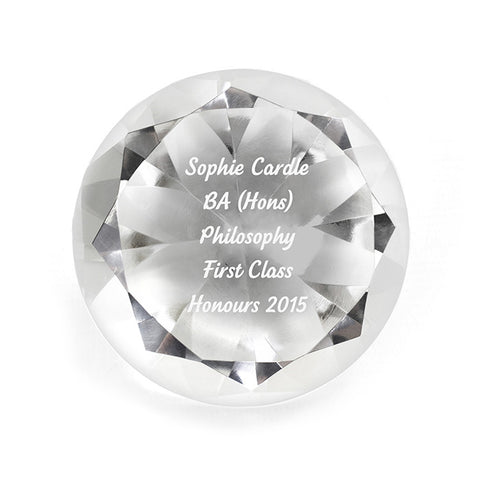 Personalised Graduation Diamond Paperweight - Harringtons