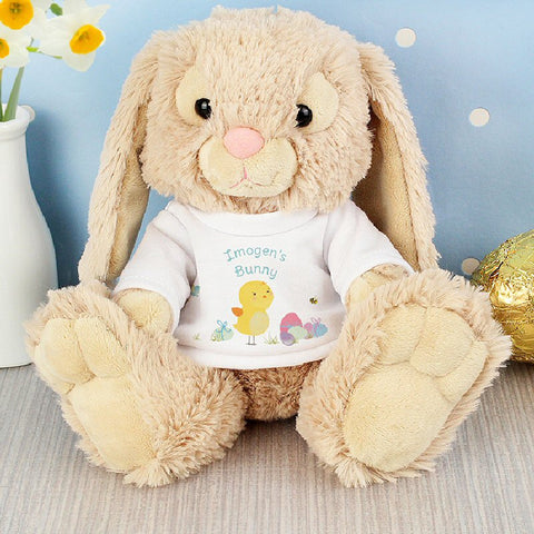 Easter Meadow Bunny In A Personalised T-Shirt - Harringtons