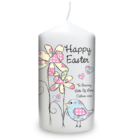 Daffodil Chick Personalised Easter Candle - Harringtons