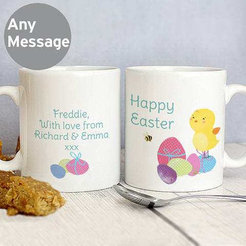 Easter gifts harringtons easter chick personalised bunny mug negle