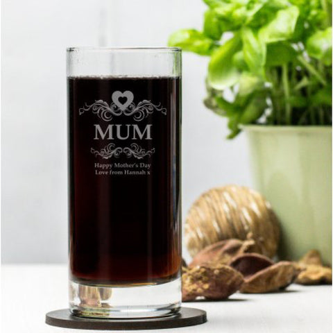 Engraved Hi Ball Glass For Mum - Harringtons