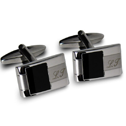 Engraved Onyx Cufflinks - Harringtons