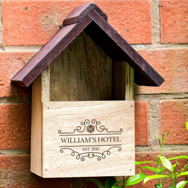 Family Hotel Personalised Rustic Bird House - Harringtons