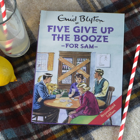 Five Give Up Booze Personalised Famous Five Book For Adults