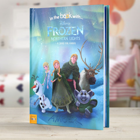 Frozen Northern Lights Personalised Hardback Book