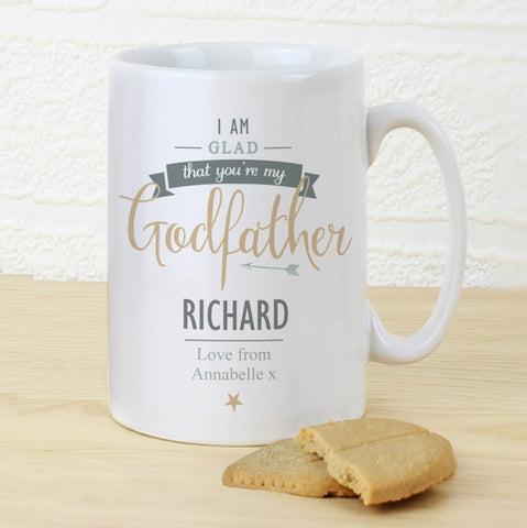 I Am Glad You're My Godfather Personalised Mug