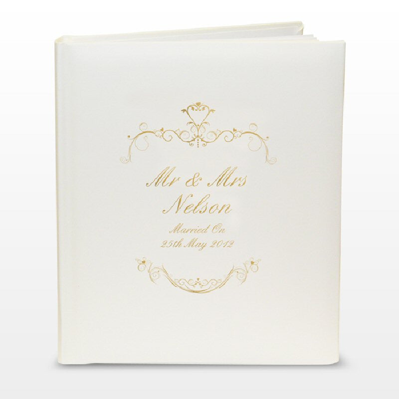 Ornate Gold Personalised Wedding Photo Album - Harringtons