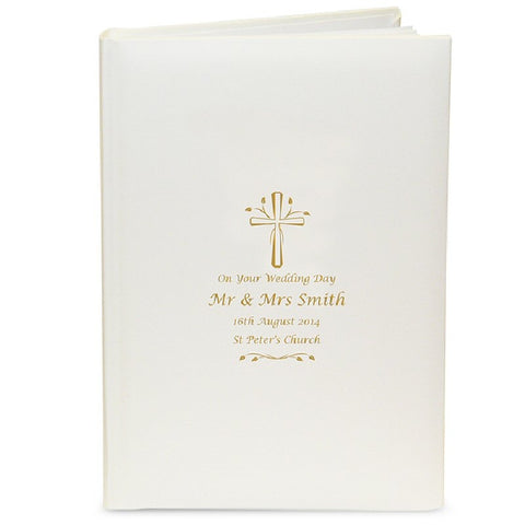 Gold Cross Personalised Photo Album with Sleeves - Harringtons
