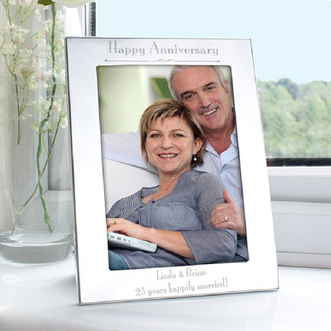 Engraved Happy Anniversary Photo Frame - Harringtons