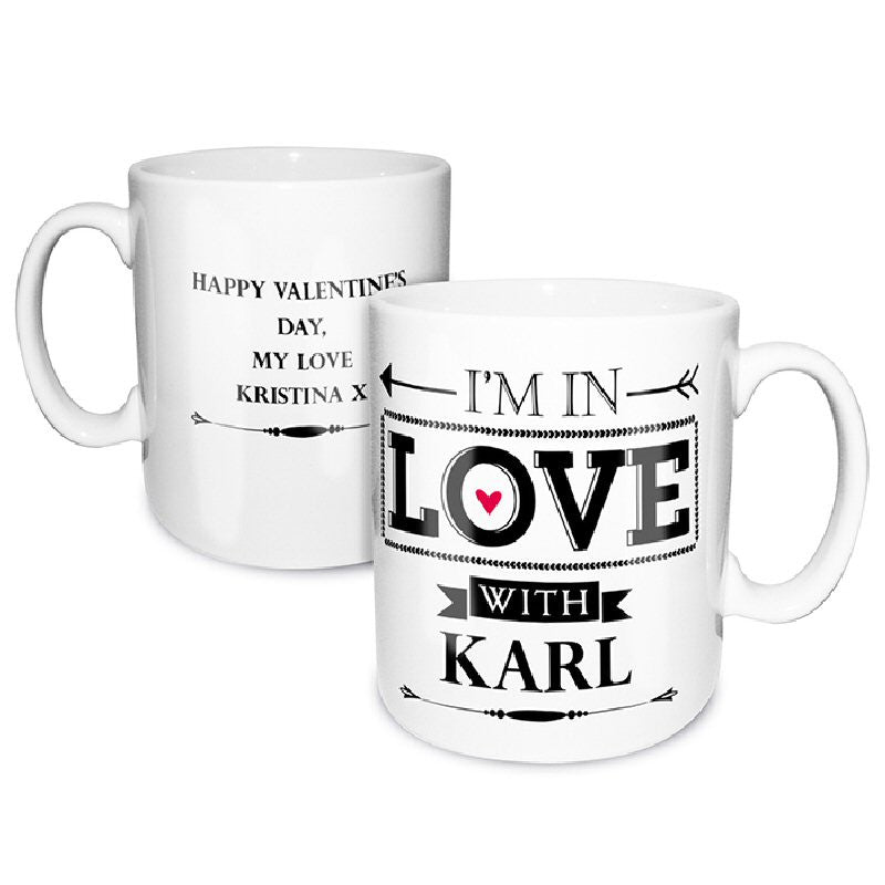 In Love With..... Personalised Valentine Mug - Harringtons