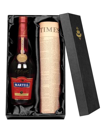 Martell VSOP Cognac with Special Date Newspaper Gift Set