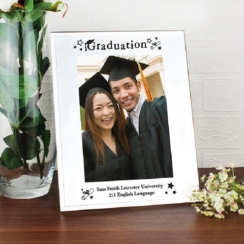 Personalised Mirrored Graduation Glass Photo Frame - Harringtons