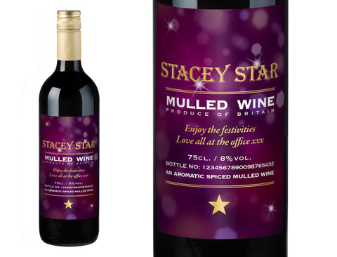 Bottle Of Christmas Mulled Wine With Personalised Label