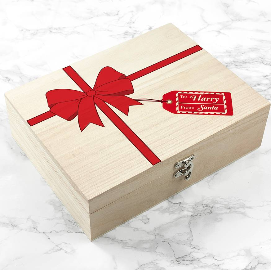 From Santa Personalised Wooden Christmas Eve Box