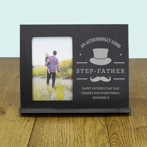 An Astoundingly Good Step - Father Personalised Slate Frame