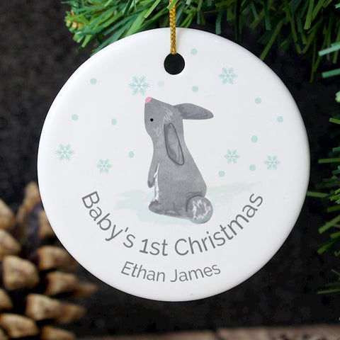 Baby's 1st Christmas Personalised Ceramic Tree Decoration