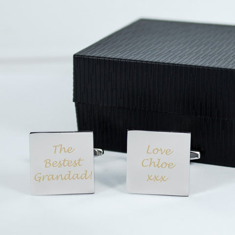 Bestest Grandad Personalised Cufflinks - Harringtons