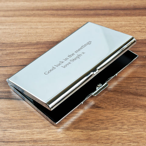 Personalised Executive Concertina Card Holder - Harringtons