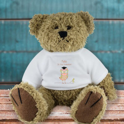 Miss Owl Personalied Graduation Bear - Harringtons