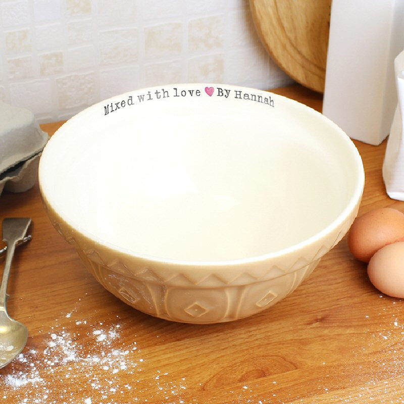 Mixed With Love Personalised Mixing Bowl - Harringtons
