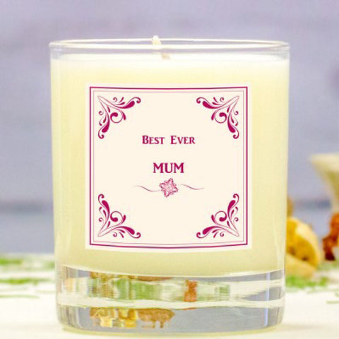 Best Ever Mum Personalised Scented Candle - Harringtons
