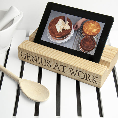 Personalised Kitchen Recipe Book or Tablet Holder - Harringtons