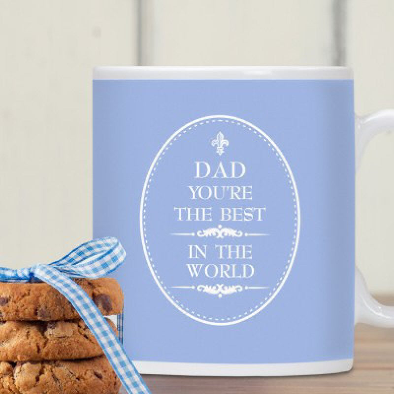 Best Dad In The World Personalised Mug - Harringtons