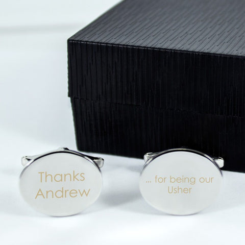 Thanks For Being Our Usher Personalised Cufflinks - Harringtons