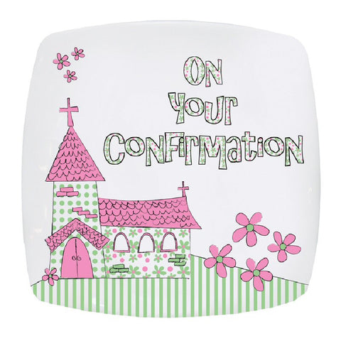 Pink Church Confirmation Plate - Harringtons