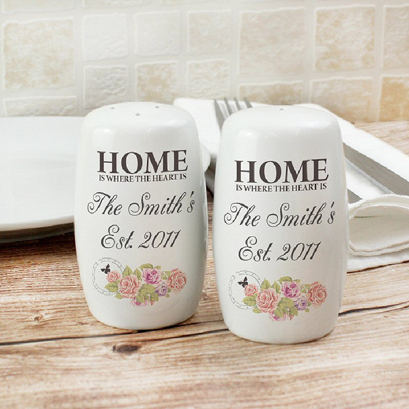 Personalised Home Salt & Pepper Pots - Harringtons