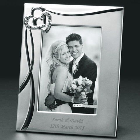 Engraved Sparkling Hearts Photo Frame - Harringtons