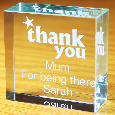 Personalised Thank You Crystal Token - Harringtons