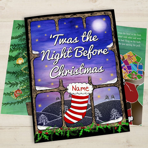 'Twas the Night Before Christmas Personalised Softback Book