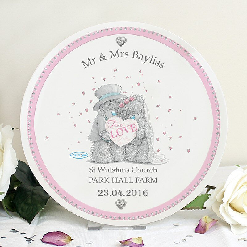 Me To You Personalised Wedding Couple Plate - Harringtons