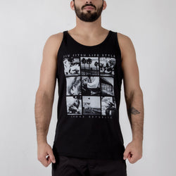 BJJ Lifestyle Tank Black Front View