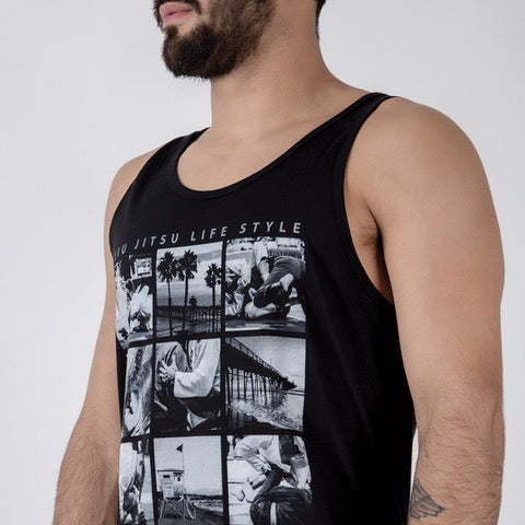 BJJ Lifestyle Tank Side View Black