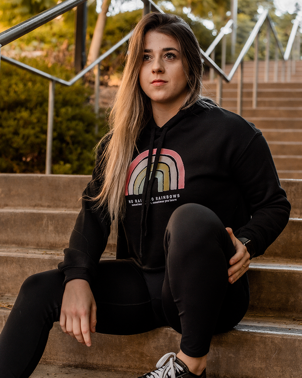 No Rainbows Women's Crop Hoodie
