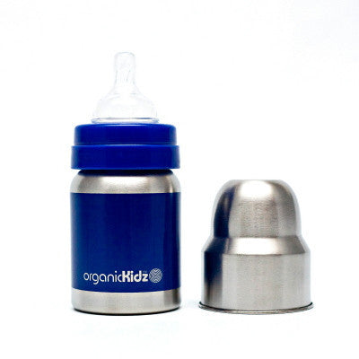 Organickidz 4oz Wide Mouth Stainless Steel Baby Bottle