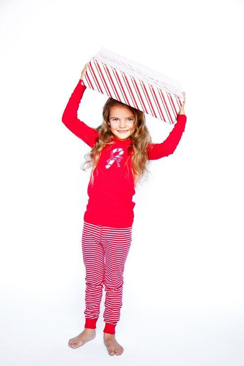Skylar Luna Organic Cotton Long Sleeve Holiday Pajamas
