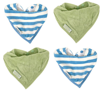 Water Resistant Organic Cotton Bandana Bibs 0-2 years - CLEARANCE
