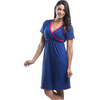 Cross Over V-Neck Sleeveless Nursing Nightgown - CLEARANCE