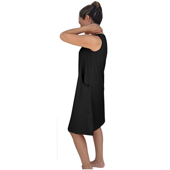 Side Openings Sleeveless Nursing Nightgown - CLEARANCE
